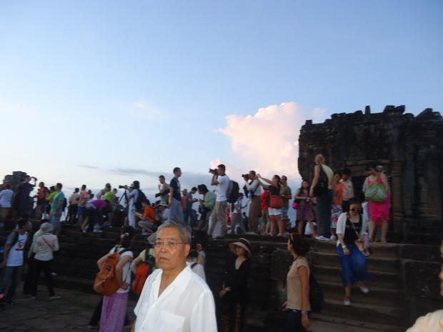 Waiting for sunset at Bakheng Temple