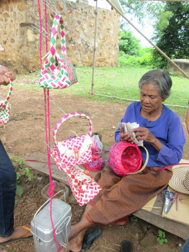 Grandma and handicraft