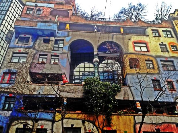 Hundertwasserhaus(apartment block by Hundertwasser